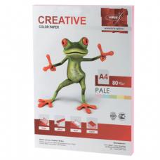 Бумага CREATIVE color (Креатив)  А4,  80г/м, 100 л. пастель розовая, БПpr-100р, ш/к 40693