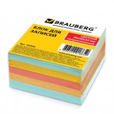 Блок для записей BRAUBERG непроклеенный, 9*9*5, цветной, 122339