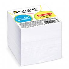 Блок для записей BRAUBERG непроклеенный, 9*9*9, белый, 122340