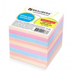 Блок для записей BRAUBERG непроклеенный, 9*9*9, цветной, 122341