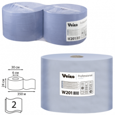 Бумага протирочная VEIRO (P1/P2), КОМПЛЕКТ 2шт, Comfort, 1000л/рулон, 24х35 см, 2-сл., W201