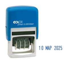 Датер месяц буквами, оттиск 22*4мм синий, COLOP S220, корпус синий, ш/к 26769
