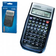 Калькулятор CITIZEN инженерный SR-270N, 10+2 разр, пит. от батарейки, 154х80мм, сертифицирован д/ЕГЭ
