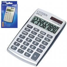 Калькулятор CITIZEN карманный CPC-110WB, 10 разрядов, двойное питание, 105х64мм