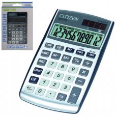 Калькулятор CITIZEN карманный CPC-112WB, 12 разрядов, двойное питание, 120х72мм