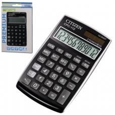 Калькулятор CITIZEN карманный CPC-112BKWB, 12 разрядов, двойное питание, 120х72мм, ЧЕРНЫЙ