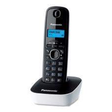 Радиотелефон PANASONIC KX-TG1611RUW, пам 50ном АОН повтор, часы /будильник (радиус 10-100м), цв.белый