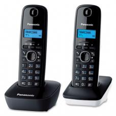 Радиотелефон PANASONIC KX-TG1612RU1 + доп.трубка, пам 50ном АОН, будильник (радиус 10-100м), цв.серый