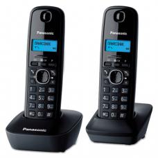 Радиотелефон PANASONIC KX-TG1612RUH + доп.трубка, пам 50ном АОН, будильник (радиус 10-100м), цв.серый