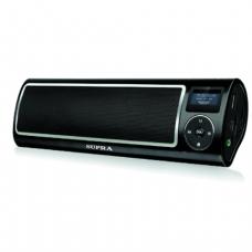 Аудиосистема порт. SUPRA PAS-6255, мощн 5Вт, FM-тюнер, МР3,WMA, USB/SD/AUX, будильник, диктофон, черное