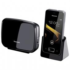 Радиотелефон PANASONIC KX-PRX120RUW, Wi-Fi, слот SD, камера 0,3мп, автоотв, спикер, полиф, цв.титан