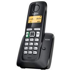 Радиотелефон GIGASET A220 RUS, пам 80 ном., повтор номера, тональный/импульсный набор, цв.чёрный