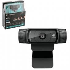 Вебкамера LOGITECH HD Pro Webcam C920, 2Мпикс, микрофон, USB 2.0,  черный, автофокус, 960-000769
