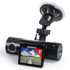 Видеорегистратор автомоб. SONNEN DVR-330, HD, 120°, экран 2'', microSD, 352856