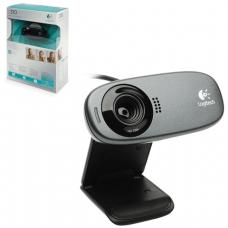 Веб-камера LOGITECH C310, 5Мпикс, микрофон, USB 2.0,черная, регулируемый крепеж, (960-000638)