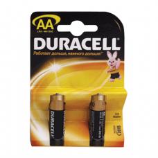Батарейки DURACELL AA LR6, КОМПЛЕКТ 2шт., в блистере, 1.5В, (работают до 10 раз дольше)