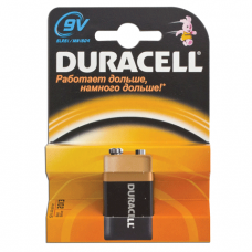 Батарейка DURACELL 9V, в блистере, 9В, (самая мощная щелочная батарейка)