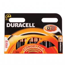 Батарейки DURACELL AA LR6, КОМПЛЕКТ 12шт., в блистере, 1.5В, (работают до 10 раз дольше)