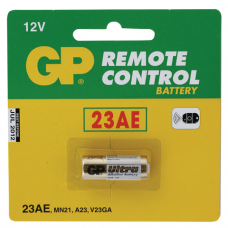 Батарейка GP (Джи-Пи)  Alkaline 23AE, в блистере, 12В (для сигнализаций)