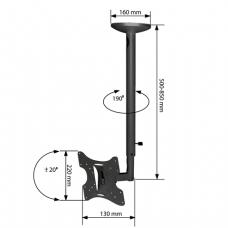 Кронштейн-крепление для ТВ потолочный ARM MEDIA LCD-1000, VESA75-200/200,10-37