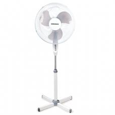 Вентилятор напольный SONNEN SF-45W-40-01, d=40 см, 45Вт, 3 скоростных режима, белый/серый, 451033