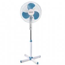 Вентилятор напольный SONNEN SF-45W-40-02, d=40 см, 45Вт, 3 скоростных режима, белый/синий, 451034