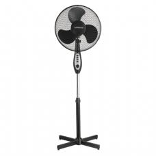Вентилятор напольный SONNEN SFT-45W-40-01, d=40 см, 45Вт, 3 скоростных режима, таймер, черный, 451035