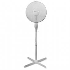 Вентилятор напольный SONNEN SF-50W-40-01, d=40 см, 50Вт, 3 скоростных режима, решетка, белый, 451036