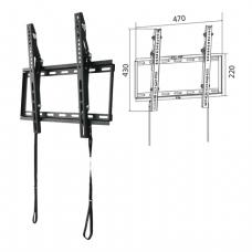 Кронштейн-крепление для ТВ настенный WIZE WT47, VESA 50-400/400, 23-47