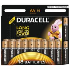 Батарейки DURACELL AA LR6, КОМПЛЕКТ 18шт., в блистере, 1.5В, (работают до 10 раз дольше), шк7519