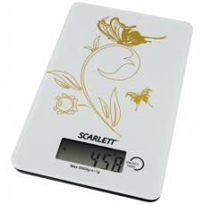 Весы кухонные SCARLETT SC-1212, электронный дисплей, максимальная нагрузка 5 кг, стекло