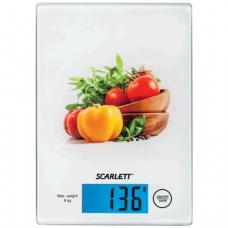 Весы кухонные SCARLETT SC-1217, электронный дисплей, максимальная нагрузка 8 кг, стекло