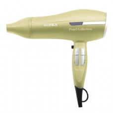 Фен SUPRA PHS-2004, мощность 2200Вт, 3 скор режима, 3 темп режима ионизация, пластик, бежевый