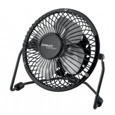 Вентилятор настольный SCARLETT SC-DF111S99 d-12см, 2,5Вт, USB, метал.корпус, метал. лопасти, черный