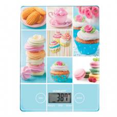 Весы кухонные SCARLETT SC-KS57P05, электронный дисплей, максимальная нагрузка 5 кг, стекло