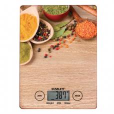Весы кухонные SCARLETT SC-KS57P02, электронный дисплей, максимальная нагрузка 5 кг, стекло