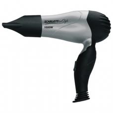 Фен SCARLETT SC-HD70T03, мощность 1000Вт, 2 скоростных режима, складная ручка, пластик, серый/черный