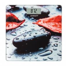Весы напольные SCARLETT SC-BS33E052, электрон, макс нагрузка 180кг, квадрат, стекло, с рисунком