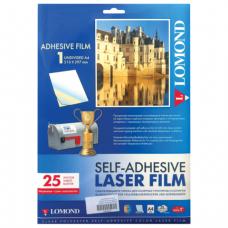 Пленка LOMOND для ч/б и цв. лазерных принтеров, самоклеящаяся, прозр, 100 мкм, А4, 25 шт., 2800003