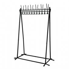 Вешалка напольная, металлическая, высота 1,8 м, Алла, 22 крючка, черная, ш/к 82387