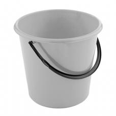 Ведро 12л, без крышки, пластик, (крышка 601133), серое, 4307400