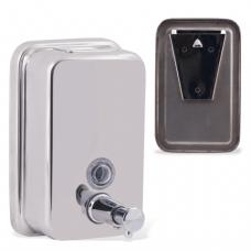 Диспенсер для жидкого мыла BXG antivandal, НАЛИВНОЙ, нерж.сталь, 0,5 л, BXG SD H1-500, ш/к 85098