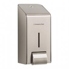Диспенсер для жидкого мыла KIMBERLY-CLARK, нерж.сталь, 1 л, (картридж 601538,-539), 8973