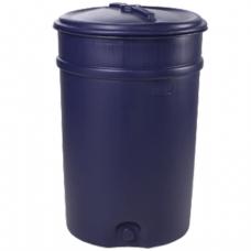 Бочка-бак 205л, полиэтилен (ПЭНД), крышка накладная, диам. 587мм, для пищевых и химических продуктов