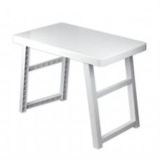 Стол складной IDEA, высота 56см, пластиковый, в сложенном виде (в5*ш72*г48 см), цвет серый, М 2306