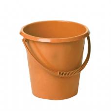 Ведро 11л IDEA, без крышки, пластиковое, пищевое, цвет оранжевый, М 2408
