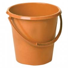 Ведро 17л IDEA, без крышки, пластиковое, пищевое, цвет оранжевый, М 2409