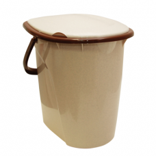 Ведро- туалет 24л IDEA, сиденье с крышкой, пластиковое, цвет бежевый мрамор, М 2460