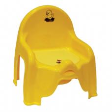 Горшок-стульчик детский IDEA, пластиковый, (в30*ш26*г35см), желтый, М 2596