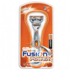 Бритва GILLETTE (Жиллет)  Fusion Power с 1 сменной кассетой, для мужчин, ш/к 77539